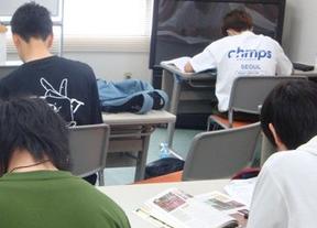 通信制高校鹿島学園高等学校のいわきキャンパス、KG高等学院の生徒の様子。