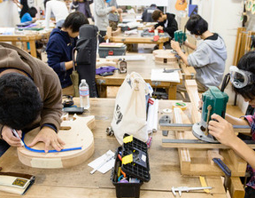 楽器メーカーESPが運営する通信制高校提携のギター、ベース製作技術者養成学校。