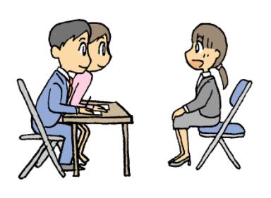 通信制高校の入試面接で転入する理由を答える。